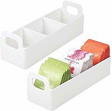 mDesign Plastic Kitchen Pantry, Medicine Cabinet,