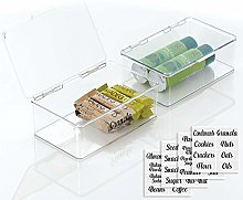 mDesign Plastic Stackable Kitchen Pantry