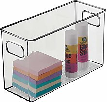 mDesign Plastic Storage Bin with Integrated