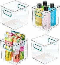 mDesign Plastic Storage Organizer Container Cube