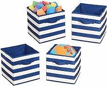 mDesign Playroom Wardrobe Storage Cube Organisers