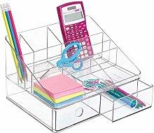 mDesign Portable Desk Organiser- Desk System with