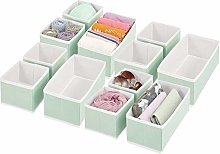 mDesign Set of 12 Wardrobe Storage Boxes –