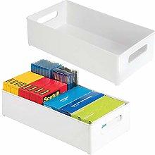mDesign Set of 2 Desk Organiser Trays — File,