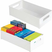 mDesign Set of 2 Desk Organiser Trays — File,