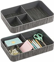mDesign Set of 2 Desk Tidy – for Paper Clips,