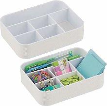 mDesign Set of 2 Desk Tidy Trays — Office
