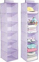 mDesign Set of 2 Hanging Nursery Organiser –