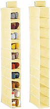 mDesign Set of 2 Hanging Shoe Rack — Practical