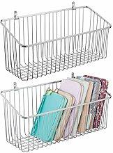 mDesign Set of 2 Hanging Storage Basket –