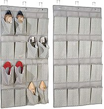 mDesign Set of 2 Hanging Wardrobe Organiser -
