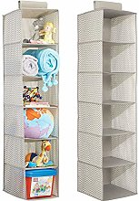 mDesign Set of 2 Hanging Wardrobe Organiser -