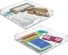 mDesign Set of 2 Kitchen and Desk Organiser –