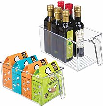 mDesign Set of 2 Kitchen Cabinet Organisers –
