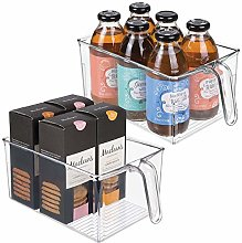 mDesign Set of 2 Kitchen Cabinet Organisers –