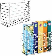mDesign Set of 2 Kitchen Storage Basket -