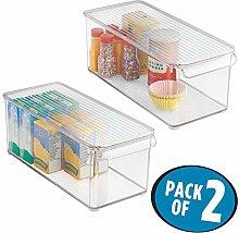 mDesign Set of 2 Multi-Purpose Storage Box with