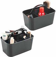 mDesign - Set of 2 – Shoe Care Product Box –