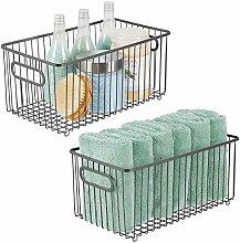 mDesign Set of 2 Storage Basket – Extra Large