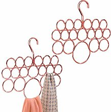 mDesign Set of 2 Wardrobe Organisers — Hanging