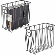 mDesign Set of 2 Wire Basket with Handles — All