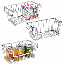 mDesign Set of 3 Wire Basket — Multipurpose