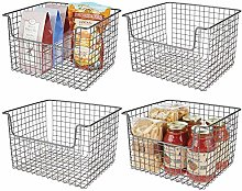 mDesign Set of 4 All-Purpose Basket – Flexible