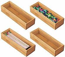 mDesign Set of 4 Desk and Drawer Organiser –