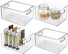 mDesign Set of 4 Drawer Box — Storage Box for
