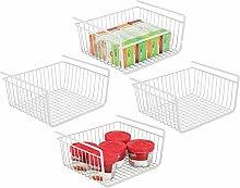 mDesign Set of 4 Under Shelf Basket – Large Wire