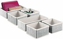 mDesign Set of 6 Bedroom Storage Boxes —