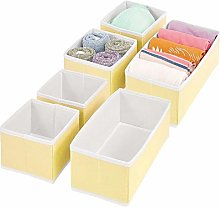 mDesign Set of 6 Wardrobe Storage Boxes – Fabric