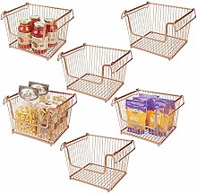 mDesign Set of 6 Wire Basket — Multipurpose