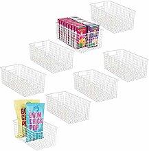 mDesign Set of 8 Wire Storage Basket — Wire