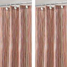 mDesign Shower Curtain – Decorative Shower