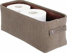 mDesign Soft Cotton Fabric Bathroom Storage Bin