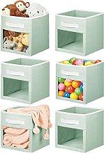 mDesign Soft Fabric Closet Storage Organizer Cube