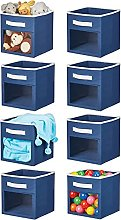 mDesign Soft Fabric Closet Storage Organizer Cube