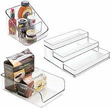 mDesign Spice Packet Organizer, 3-Tier Spice Rack,
