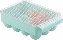 mDesign Stackable Plastic Covered Egg Tray Holder,