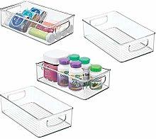 mDesign Stackable Plastic Storage Organizer