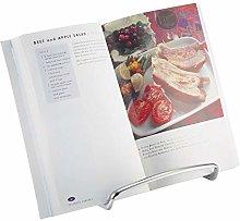 mDesign Steel Cookbook Holder - Versatile Recipe