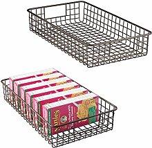 mDesign Steel Wire Basket - Set of 2 - Kitchen