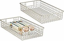 mDesign Steel Wire Basket - Set of 2 - Kitchen