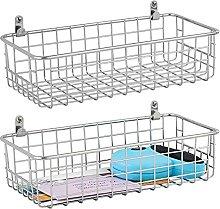 mDesign Storage Basket — Wall Mounted Basket for