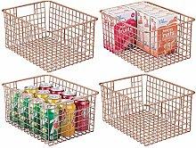 mDesign Storage Basket – Flexible Storage Basket