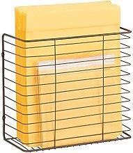 mDesign Storage Basket for Cupboard Door –