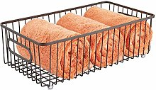 mDesign Storage Basket – Metal Wire Basket for