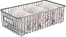 mDesign Storage Basket – Metal Wire Basket for