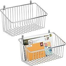 mDesign Storage Basket – Wall Mounted Basket for